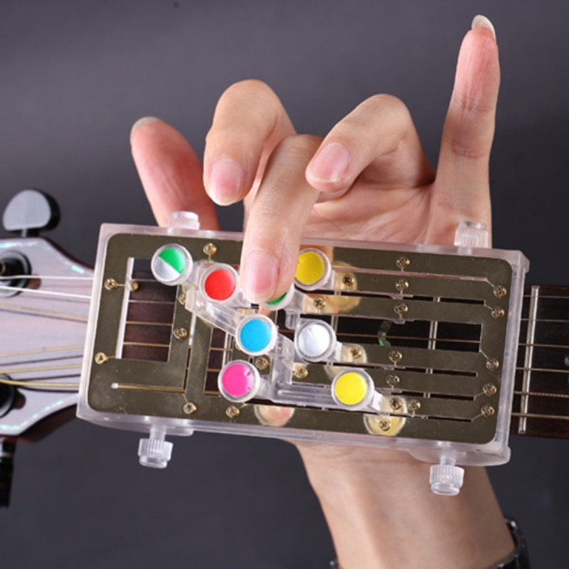Classical Guitar Auxiliary Chord Guitar Teaching Aid Guitar Learning System Study Practice Aid Pain-proof Finger Booster 2021 enlarge