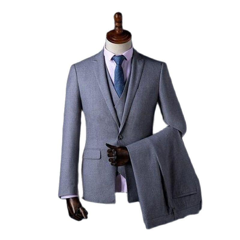 Индивидуальный Пошив мужской костюм, официальная деловая одежда, смокинги для жениха, одежда из трех предметов для вечеринки, Свадебные кос...