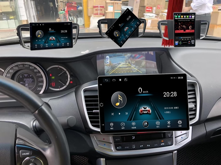 Pantalla giratoria de 360 grados 10,1 pulgadas Android 9,0 Multimedia para Honda Accord GPS navegación coche Audio Radio HDMI Video Unidad Principal