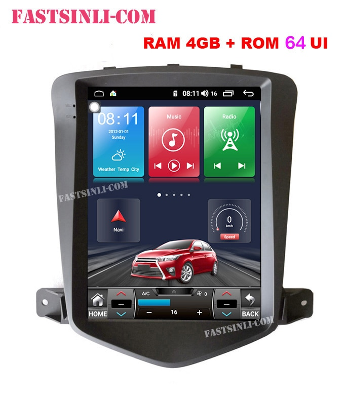 Reproductor GPS con pantalla Vertical Android CarPlay para Chevrolet Cruze 2006-2014, reproductor Multimedia, navegación GPS, pantalla Vertical
