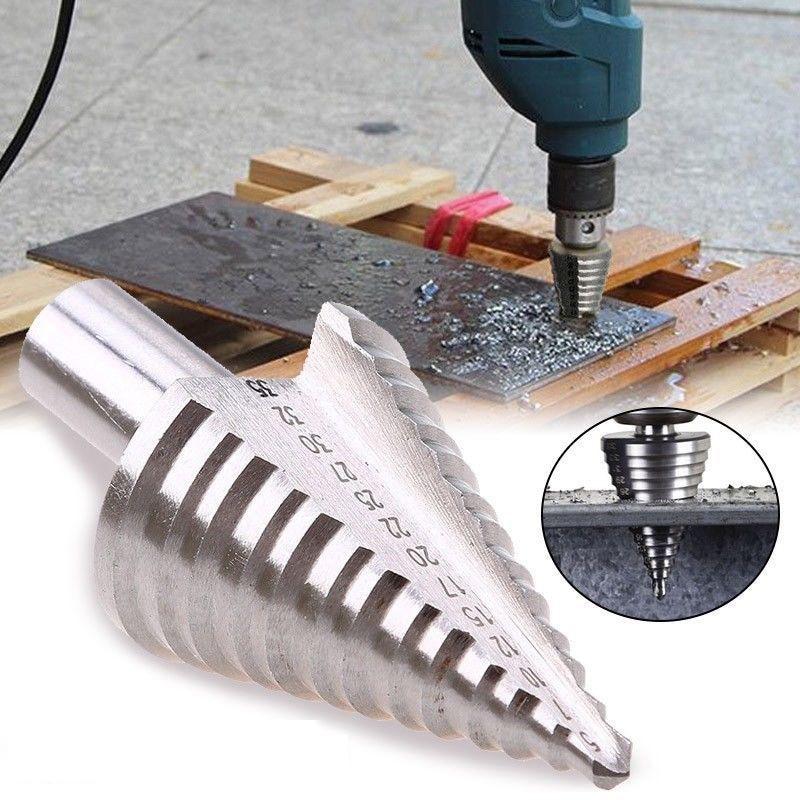 Brocas broca perforadora mango redondo 5-35mm acero de alta velocidad 13 taladros de precisión taladro espiral ranurado triángulo
