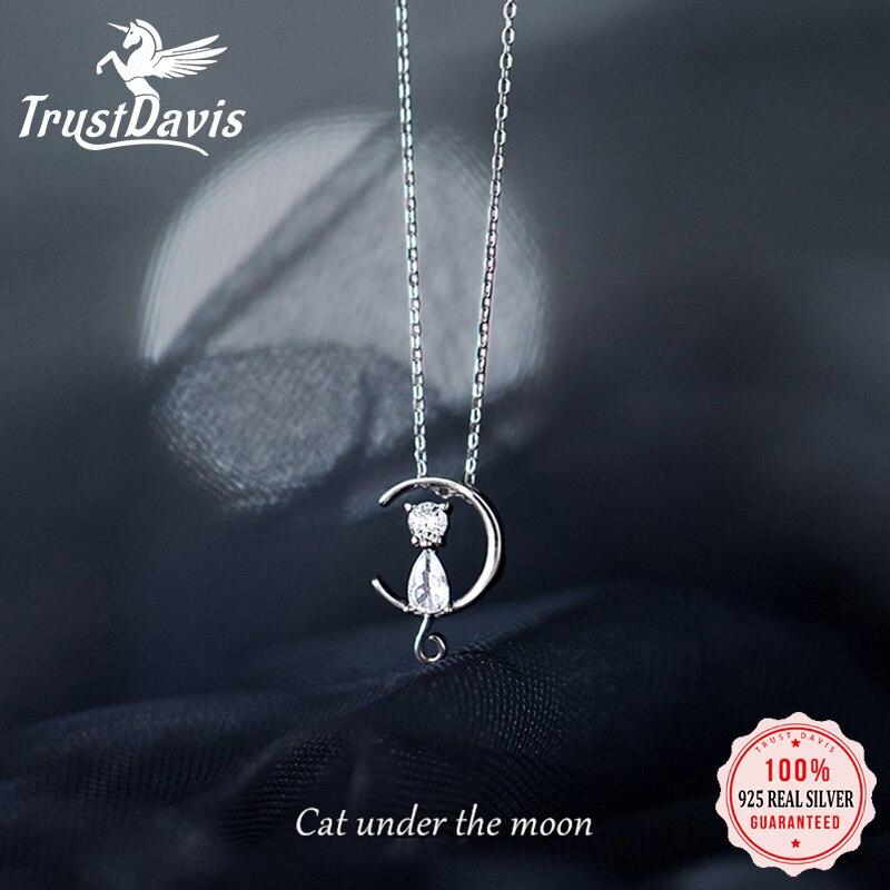 trustdavis-Настоящее-серебро-925-пробы-модное-ожерелье-чокер-с-сияющим-кубическим-цирконием-в-виде-Луны-и-кота-для-женщин-ювелирные-изделия-на-св