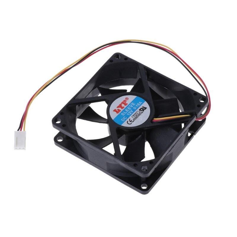 Ventilador de PC CPU de gran calidad, 3 pines, 80mm x 25mm, disipador térmico, escape