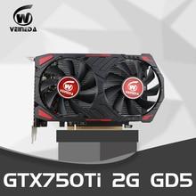 Video Cardgtx 750Ti 2GB 128Bit GDDR5 Graphics Cards Geforce GTX 750Ti Desktop for nVIDIA Map VGA