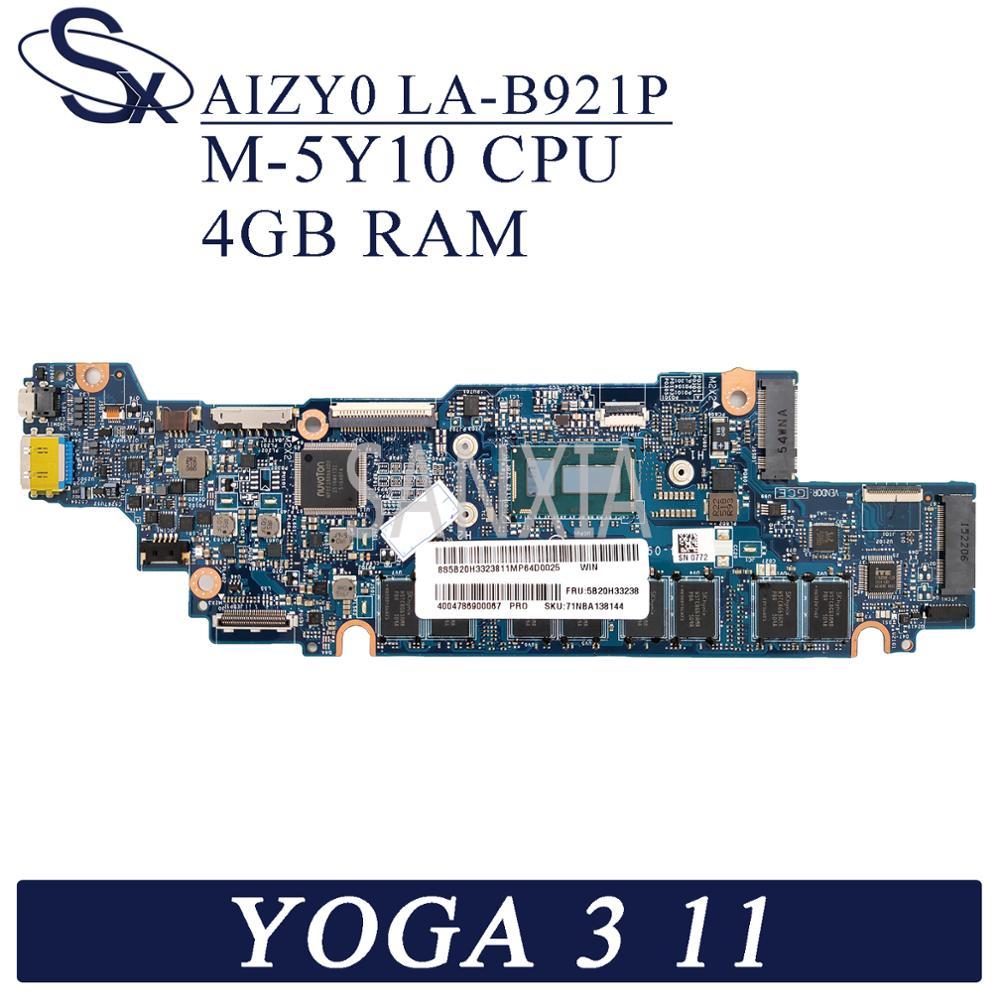 KEFU AIZY0 LA-B921P اللوحة المحمول لينوفو اليوغا 3-11 اللوحة الأصلية 4GB-RAM M-5Y10 وحدة المعالجة المركزية