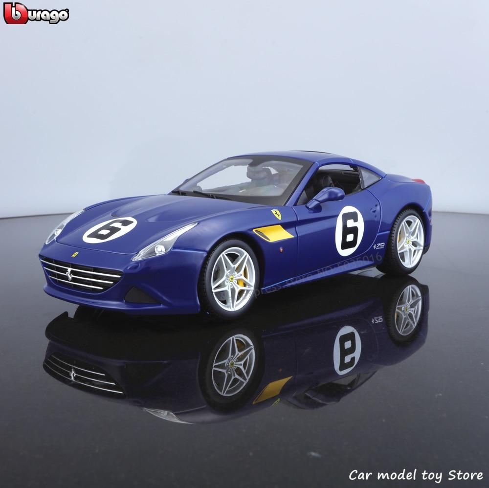Bburago 1:18 Ferrari California T 70 Aniversario edición coche de simulación de aleación de metal modelo adornos para manualidades juguete de colección