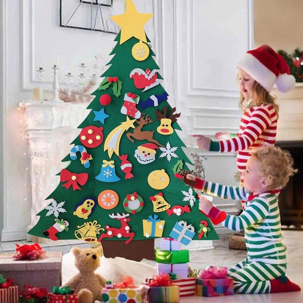 Conjunto de árbol de navidad Diy con adornos para niños, regalos de...