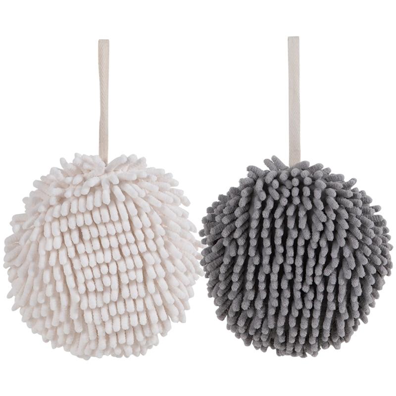 Протрите полотенца для рук шарик для очистки полотенца для рук Кухня Ванная комната висит гандбол быстро сохнет с высоким уровнем водопогл...
