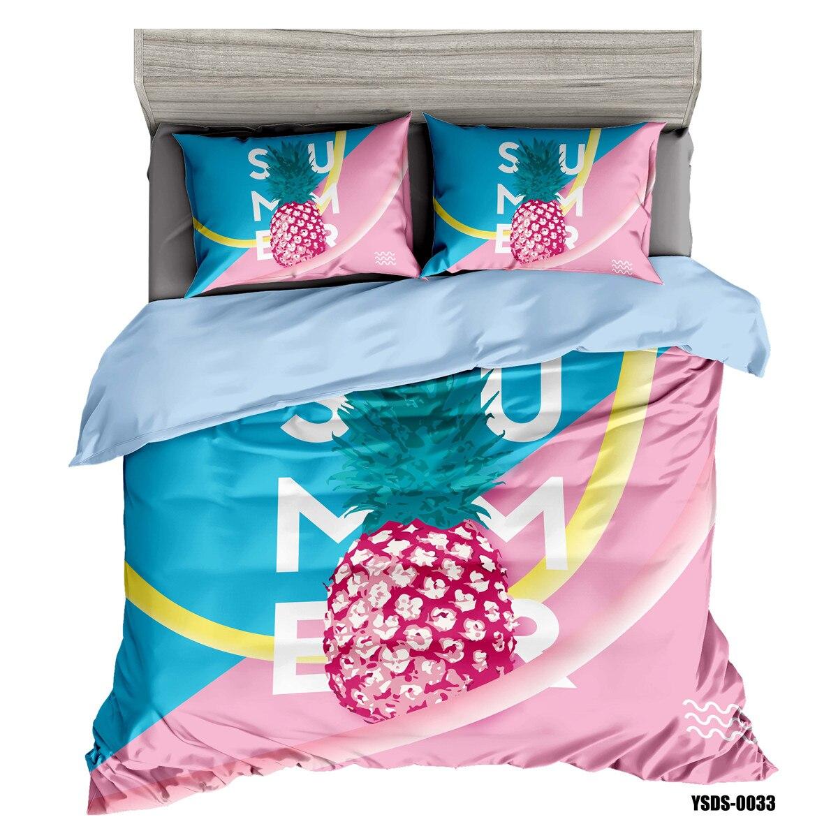 الكرتون الأناناس حاف مجموعة غطاء طقم سرير غطاء السرير المفارش مع أكياسها 2/3 قطعة لا المعزي هبوط السفينة