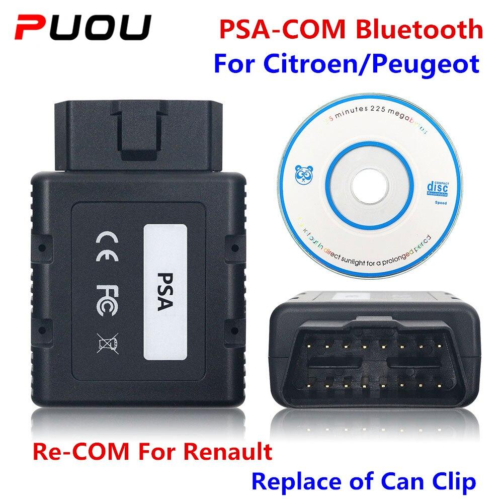 PSA-COM OBD2 PSACOM para Peugeot, repuesto de Lexia-3 PP2000, PSA COM, herramienta de programación de diagnóstico Bluetooth para Renault