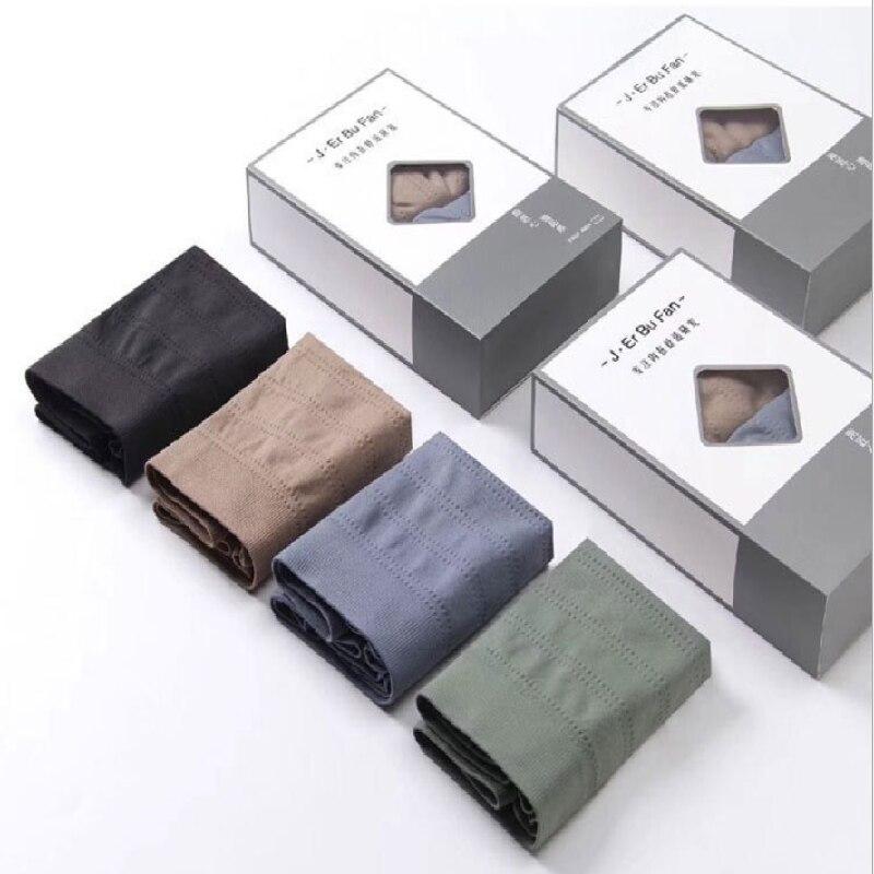 4PCS Men's Underwear Boxer Pants Large Size Comfortable Breathable