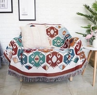 bohemia sofa cover flower sofa towel for living room bear couch slipcoverl 100cotton couch cover blanket