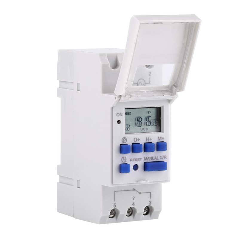 Temporizador electrónico programable con pantalla LCD, temporizador de encendido y apagado semanal,...