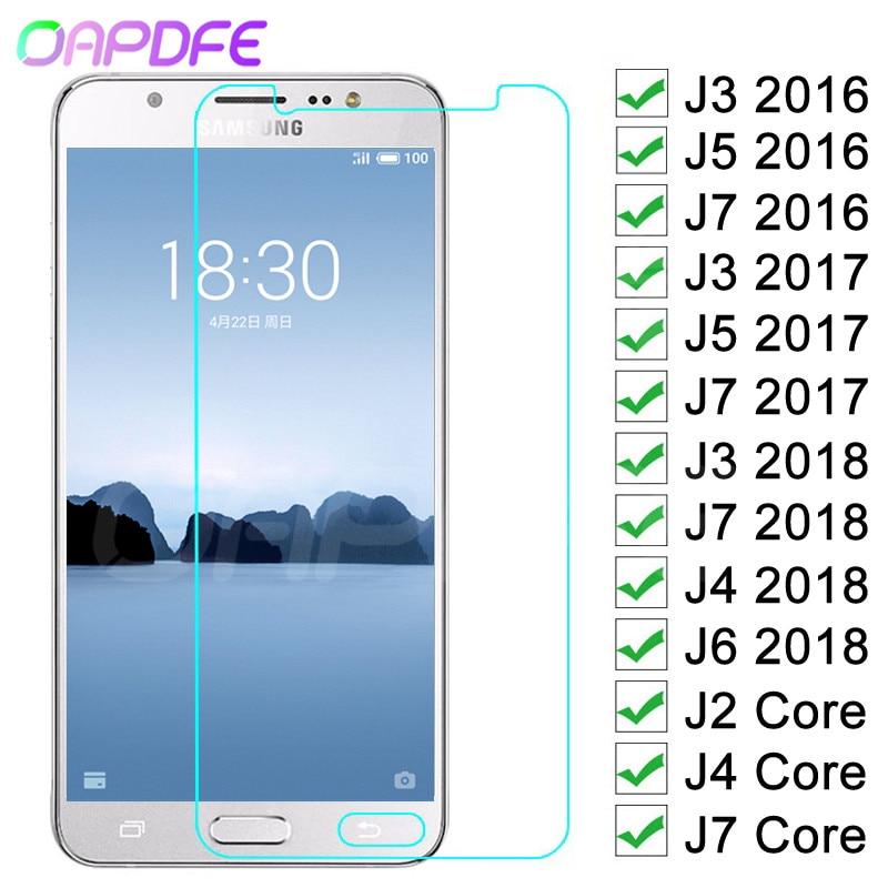 Защитное стекло 9H для Samsung Galaxy J3 J5 J7 2016 2017 J4 J6 2018 J2 Core закаленное защитное стекло для экрана