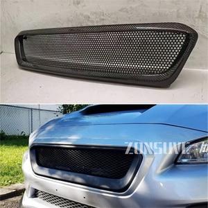 Use For Subaru Impreza 2015--2017 Year Carbon Fibre Refitt Front Center Racing Grille Cover Accessorie Body Kit Zonsuve