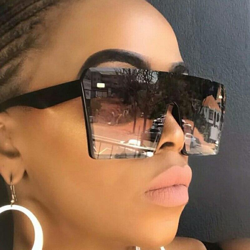 Gafas de sol cuadradas grandes sin montura de gran calidad 2020 respetuosas con el medio ambiente, gafas de sol de moda coloridas para mujer