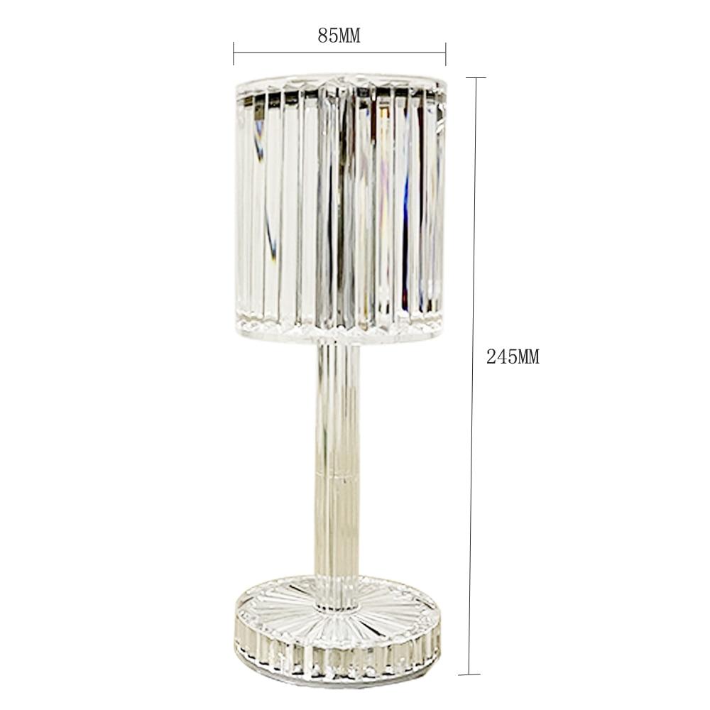 LED Night Light Diamond Table Lamp 5V USB Rechargeable Acrylic Decoration Desk Lamp Bedroom Bedside Bar Crystal Lighting Gift enlarge