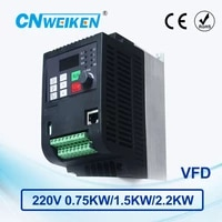 wk600 vector control frequency converter 0 75kw1 5kw2 2kw three phase 220v to three phase 220v variable frequency inverter