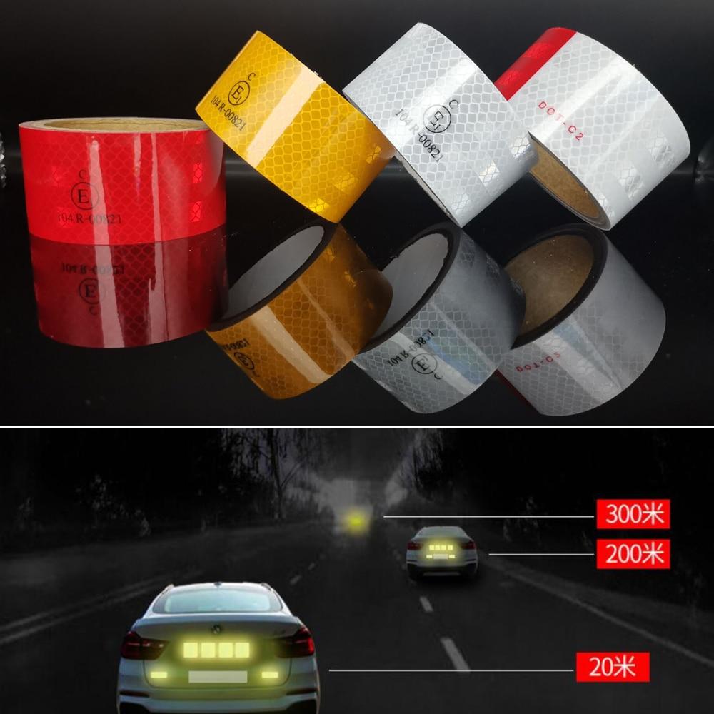 Автомобильные наклейки блестящие Безопасность Предупреждение лента клейкая светоотражающая лента автомобильные аксессуары