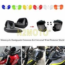Черные мотоциклетные рукавицы, защита от ветра, повышающий рост, защита рук, пластиковая крышка для HONDA YAMAHA CRF FZR FZ