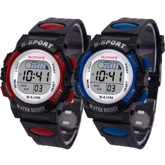 Boys Girls Led Digital Sports Watches Waterproof Children Watch Silicone Rubber Watch Kids Casual Wa