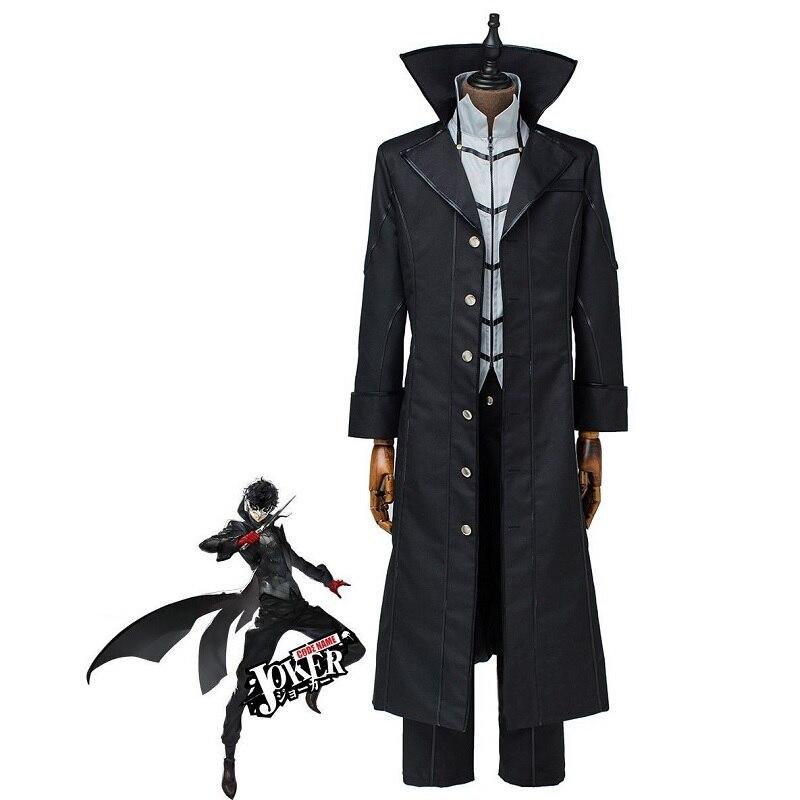 Personaje 5 disfraz de Cosplay Joker Akira Kurusu Ren Amamiya Anime Cosplay hombres mujeres disfraces de Halloween con guantes rojos y máscara