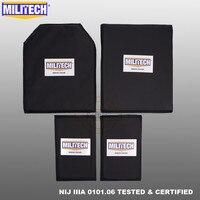 MILITECH Aramid Ballistic Panel BulletProof Plate Body Armor Soft Armour NIJ Level IIIA 3A 11x14 STC&RC And 6x10 Two Pairs