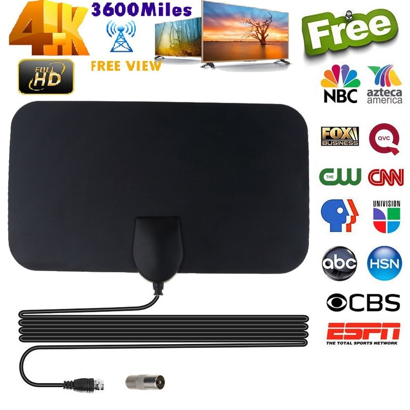 august dta245 freeview hd tv antenna with signal booster for usb tv tuner atsc indoor amplified digital f male tv antennas Flat 4K Indoor TV Antenna 4K 25DB High Gain HD TV DTV Box Digital TV Antenna 50 Miles Booster Active Indoor Aerial HD Flat Desi