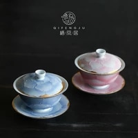 japan aritayaki cover teacup ceramic gaiwan tea ceremony bowl household kung fu tea set tea making device