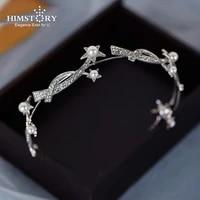 himstory simple bridal rhinestone hairband headdress wedding dress birthday party hair accessories