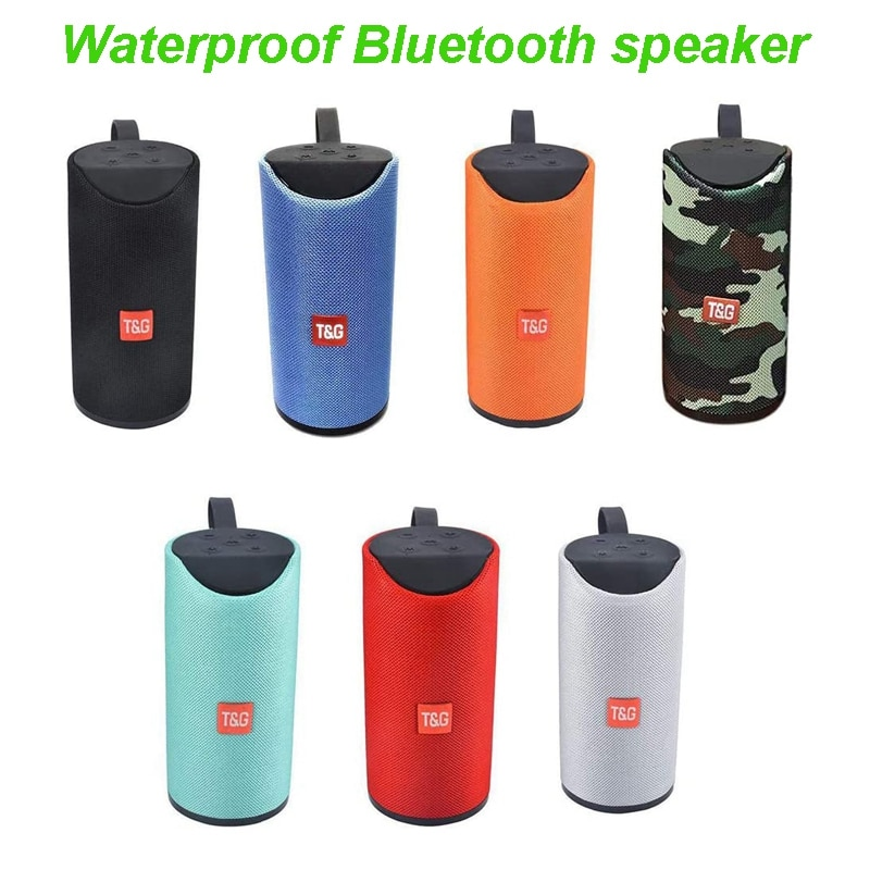 doss e go ll outdoor bluetooth speaker portable wireless speakers ipx6 waterproof sound box with microphone aux tf for phone pc TWS Portable Wireless Bluetooth 5.0 Speaker Waterproof 8D Surround Outdoor HiFi Loudspeaker Sound Box TF Card/AUX /U Disk