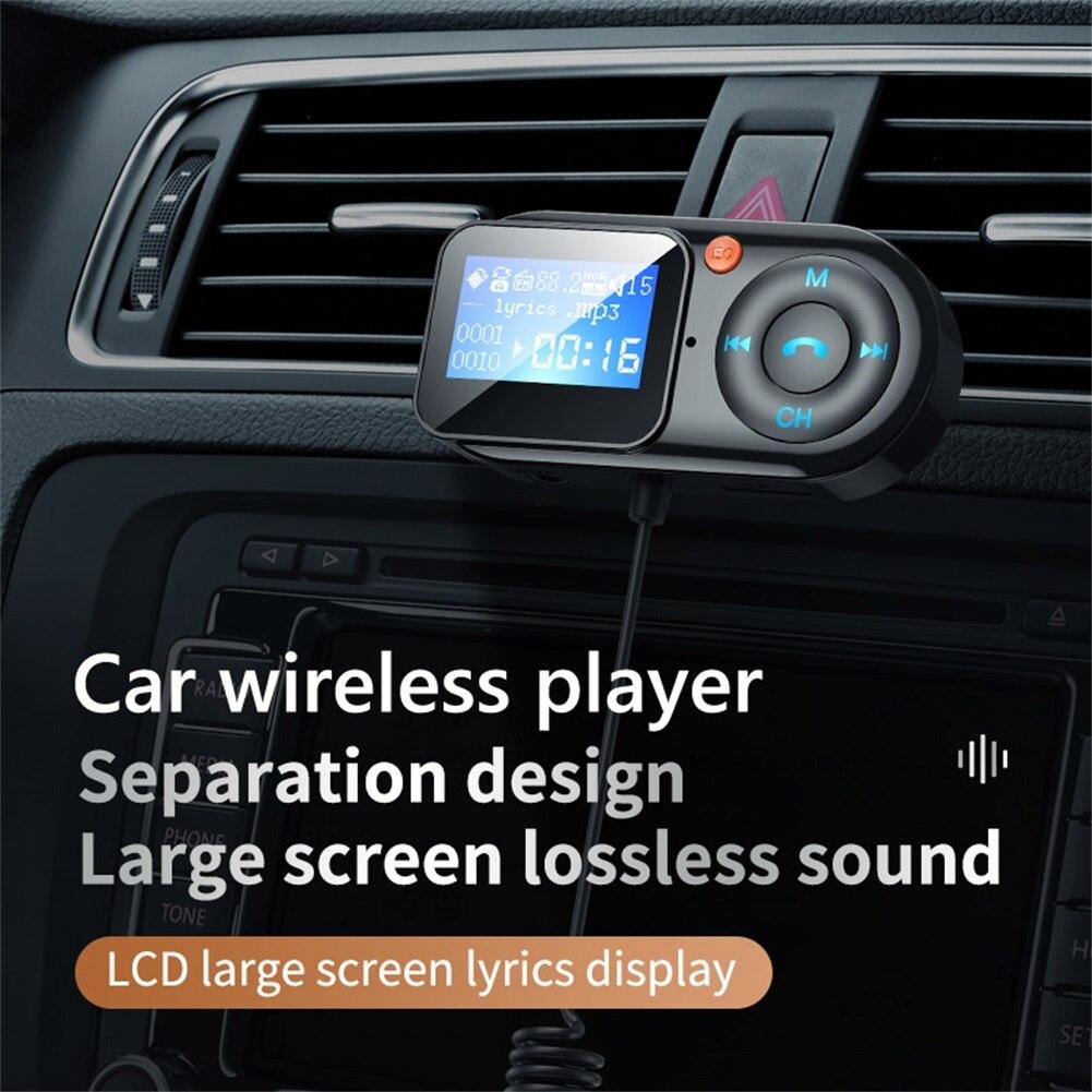 Автомобильный FM-трансмиттер с поддержкой Bluetooth 5,0, USB, автомобильное зарядное устройство, AUX, громкая связь, беспроводной автомобильный компл...