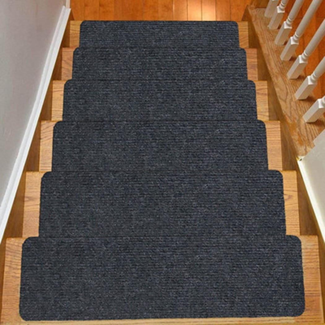 Самоклеящиеся коврики для лестницы, Нескользящие тихие защитные напольные коврики 76x20 см, теплый коврик для лестницы