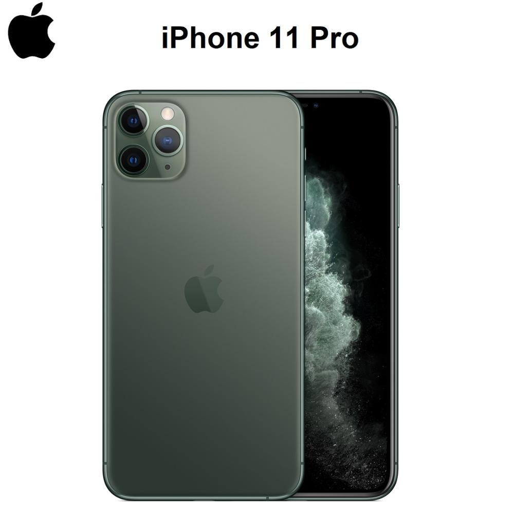 Перейти на Алиэкспресс и купить Оригинальный новый iPhone 11 Pro/Pro Max Тройная задняя камера 5,8/6,5 дюймAMOLED дисплей A13 IOS смартфон A2160/A2161/A2217/A2220 4G LTE