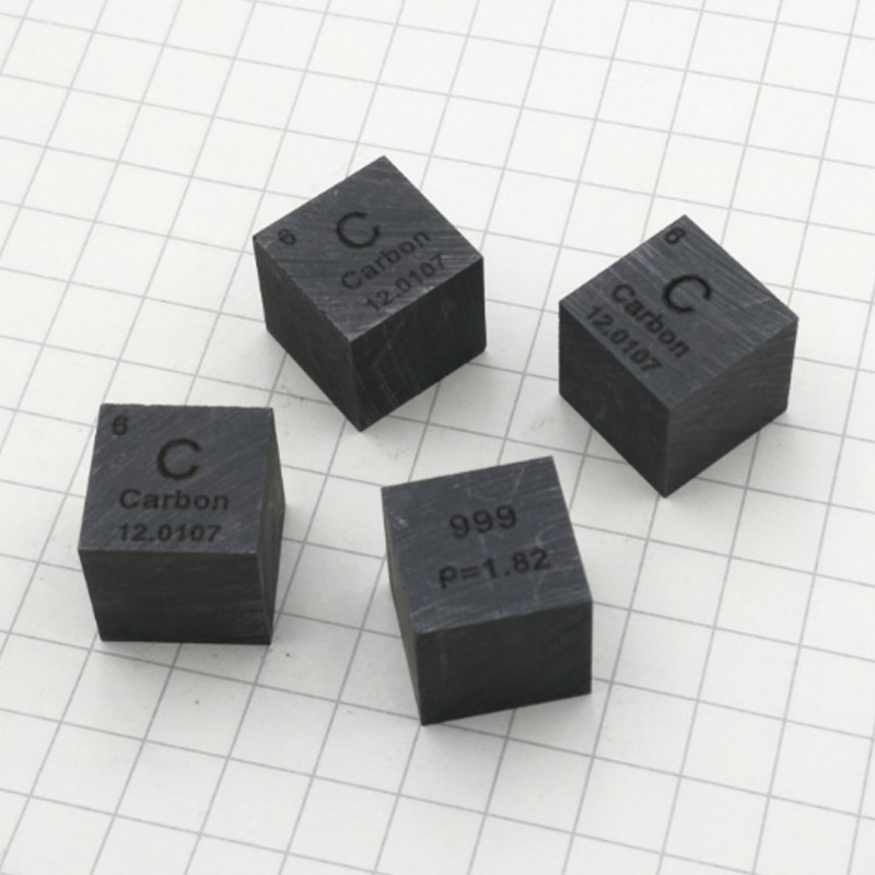 99.9% High Purity Carbon Block Carbon Metal Periodic Table Cube C Cube Hobby Display Collection 10*10*10mm