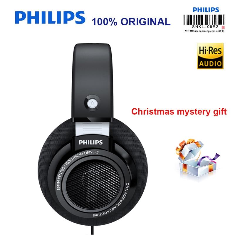 Philips-سماعات رأس سلكية احترافية ، SHP9500 ، 3 أمتار ، سلك طويل ، متوافق مع Xiaomi SamSung S9 S10 MP3 ، التحقق الرسمي