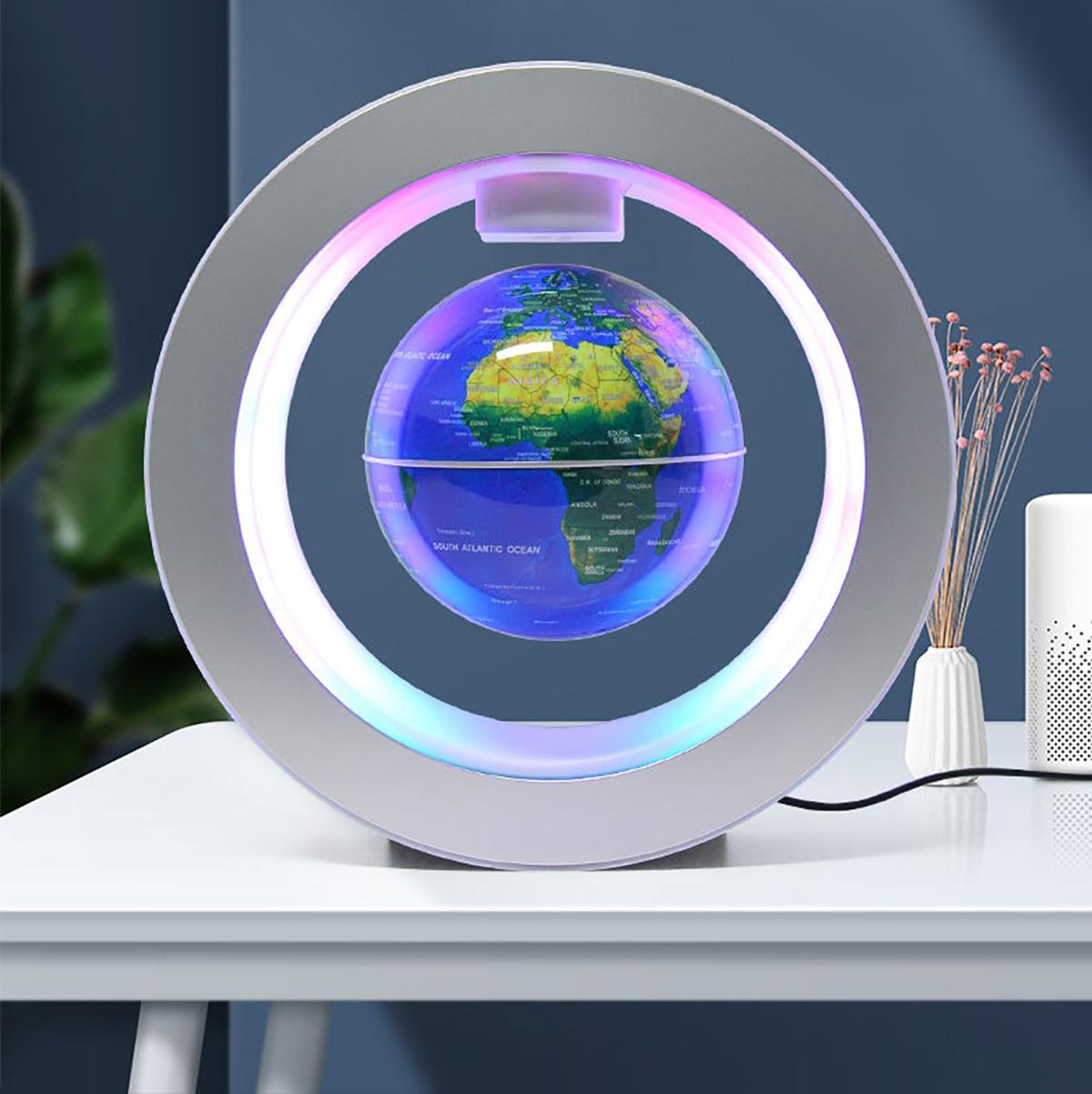 LED Globe Night Light World Map Magnetic Levitation Floating Multiple Colors Novel DecorationsBusiness Holiday Gifts