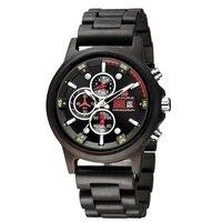 free custom watch back pattern wooden watch mens watch luxury quartz wood watch relogio masculino
