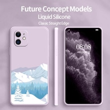 Mountain Silicone Phone Case For iPhone 11 12 Pro Max Mini Pro Soft Back Cover On iPhone Max X XR XS