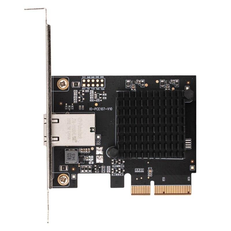 pcie para 10g placa de rede 10g adaptador de rede 10000m rj45aqc107