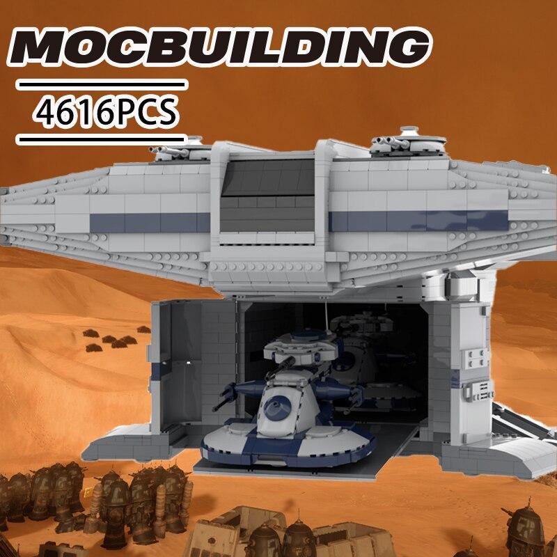 Sapce MOC اللبنات الحروب الغريبة سفينة الفضاء الهبوط نموذج باخرة مجموعات لتقوم بها بنفسك الطوب روبوت الهبوط الحرفية للعب UCS طفل اللعب هدية