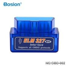 Автомобильный диагностический сканер Bosion Elm327 V2.1, Bluetooth, OBD2, адаптер автоматической диагностики