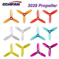 10 пар/20 шт., пропеллер Gemfan 3028, 3 дюйма, 3 лезвия, CW CCW FPV, прочный, для гоночного дрона, фристайла