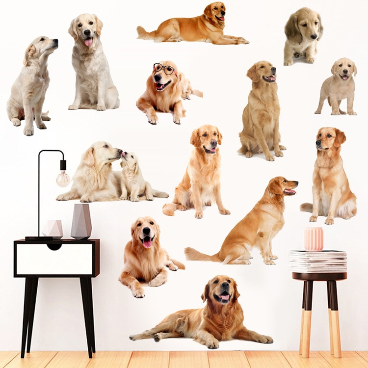 3D para Labrador, Husky Corgi pegatinas de pared perro habitaciones de niños,...