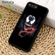 MaiYaCa hombre araña villano Marvel veneno caja del teléfono para iPhone 5 5 5 6 6 7 8 plus 11 Pro X XR XS Max Samsung S7 S8 S9 S10