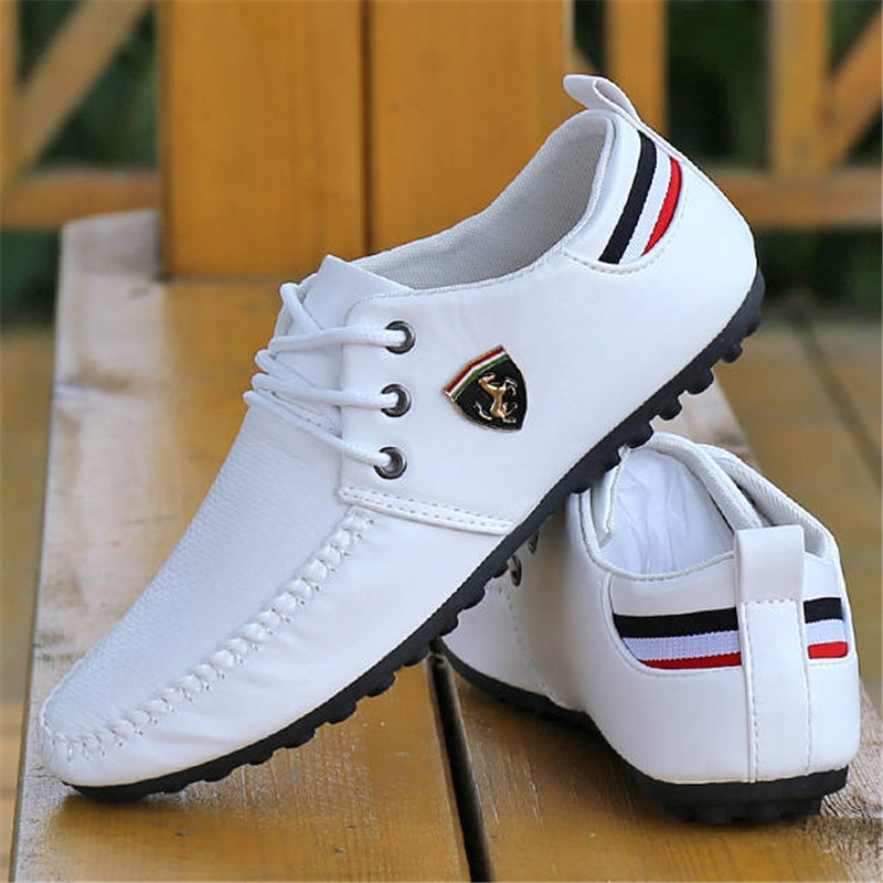2020 Breathable Solid Color Slip Men Driving Shoes Spring And Autumn New Style Breathable Men's Peas Shoes the British Sneakers