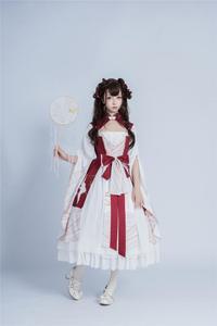 Palace sweet princess lolita dress vintage bowknot high waist printing victorian dress kawaii girl gothic lolita cosplay loli
