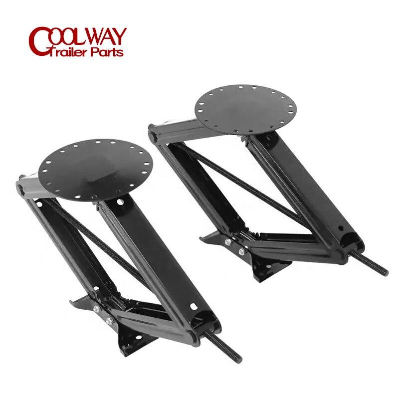 2 PCS 30 Inch 5000 LBS RV Camper Scissor Leveling Jacks Trailer Stabilizer W/Handle Corner Steady Parts Caravan Accessories enlarge