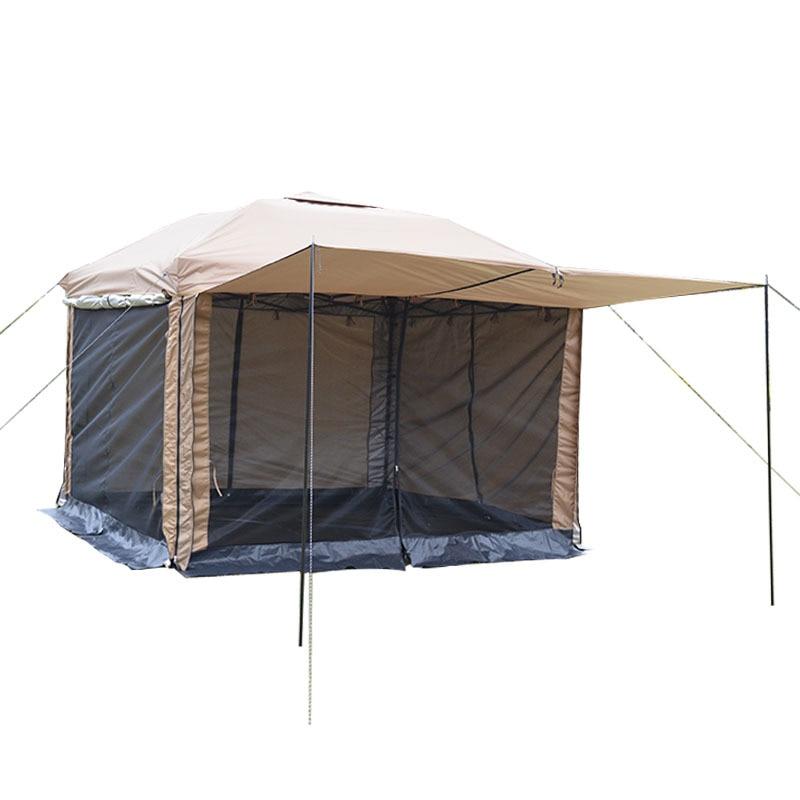 Sunnday 2 Colors 3 x 3m Four Doors  Practical Waterproof Folding Tent Outdoor Gazebo Canopy Party Wedding Tent Garden Patio