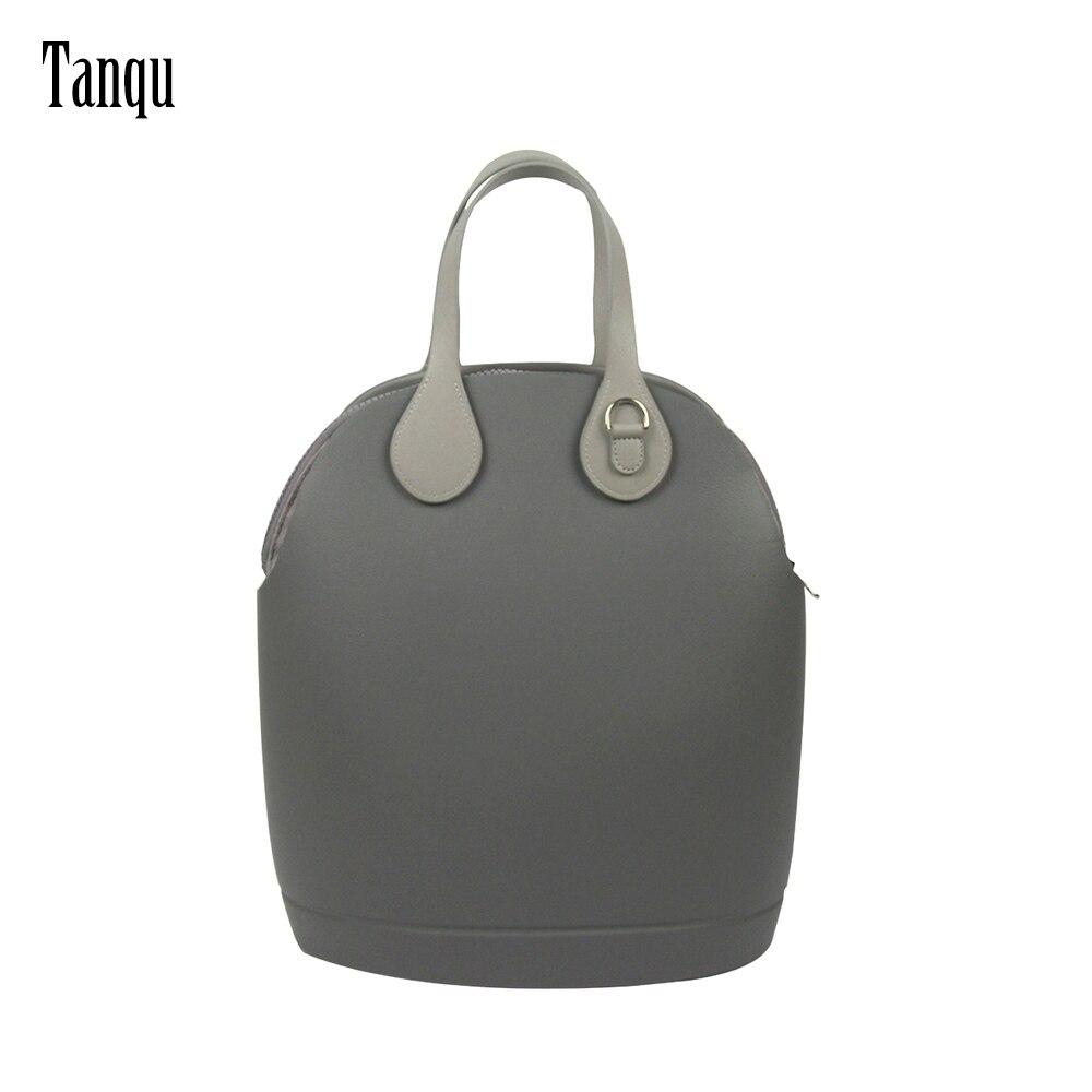 Tanqu جديد Obag 50 الجسم مع قماش جيب الداخلية شقة قصيرة 45 سنتيمتر مقابض جلدية المرأة السيدات حقيبة يد حمل الكتف س 50 'حقيبة